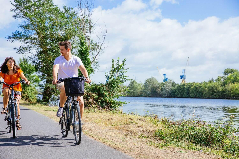 Vélo voie verte Caen Ouistreham Normandie