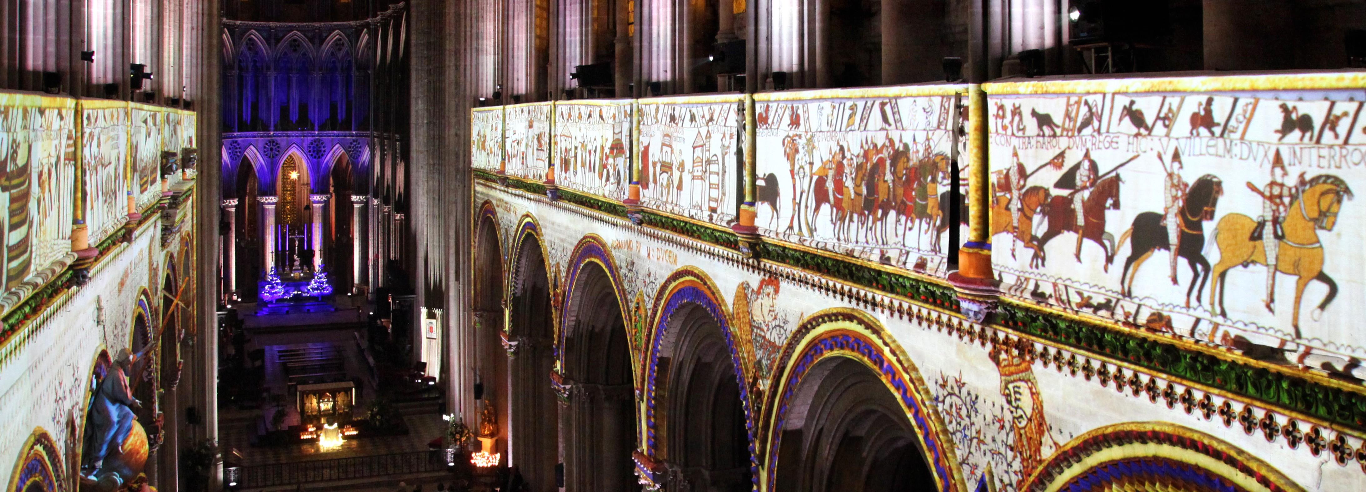 Cathédrale de Bayeux, spectacle tapisserie de Bayeux