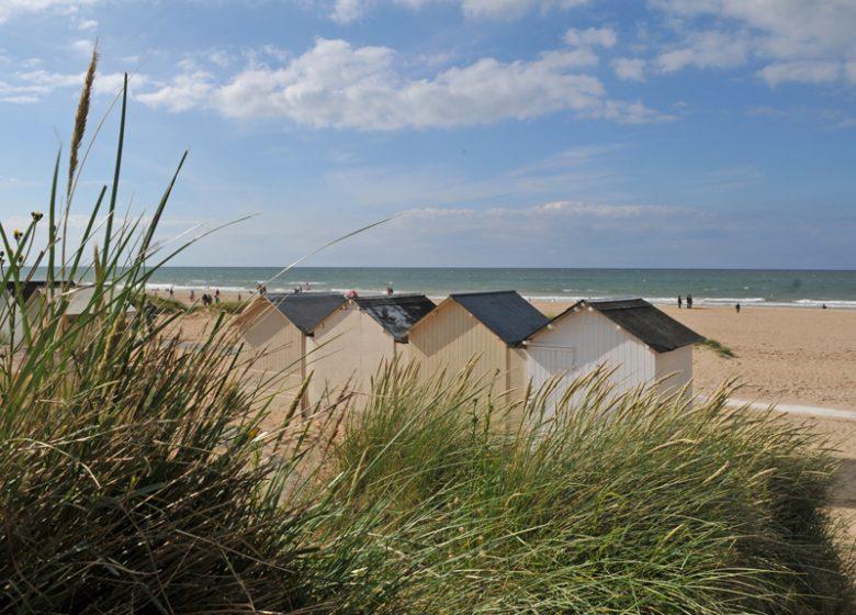 Cabines de plages à Ouistreham – Normandie