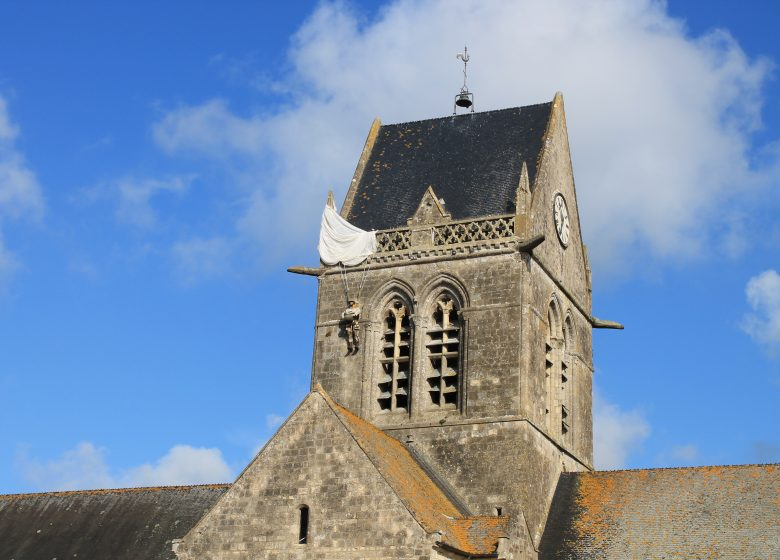 The paratrooper and Ste-Mère-l'Eglise
