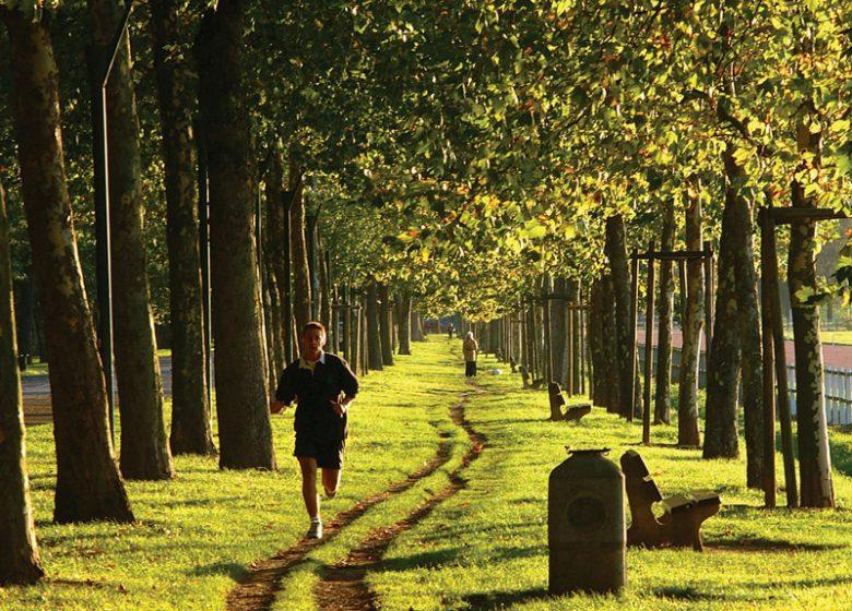 Jogging autour de la prairie à Caen
