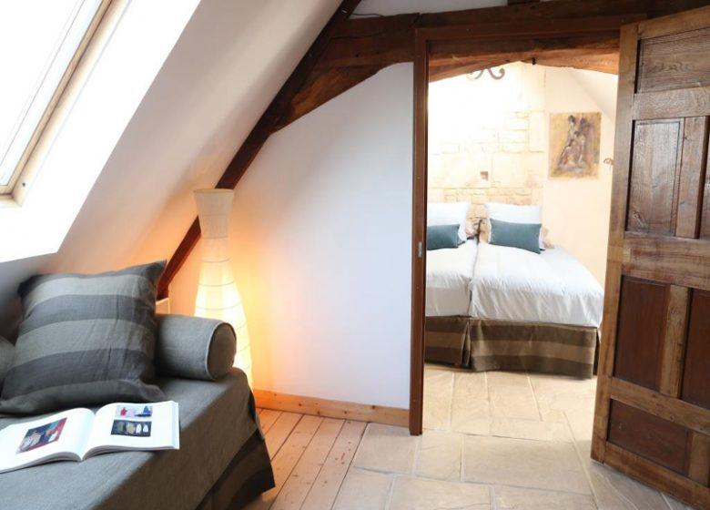 Le Loft à Caen, vue chambre