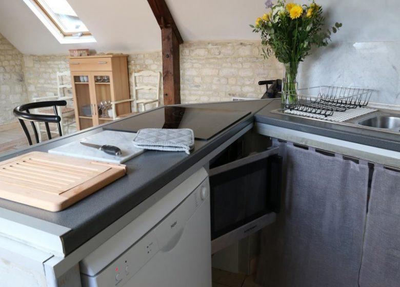 Le Loft à Caen, cuisine