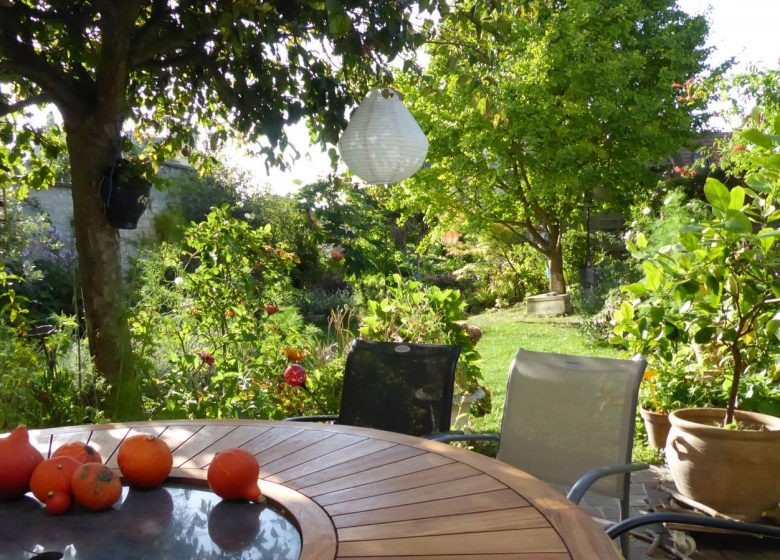 jardin vu de lamaison